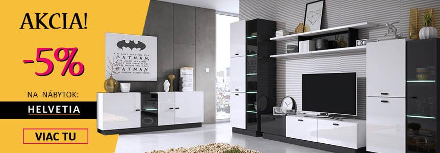 05255de95b23d Akcia -5% na kolekcie nábytku od výrobcu HELVETIA !