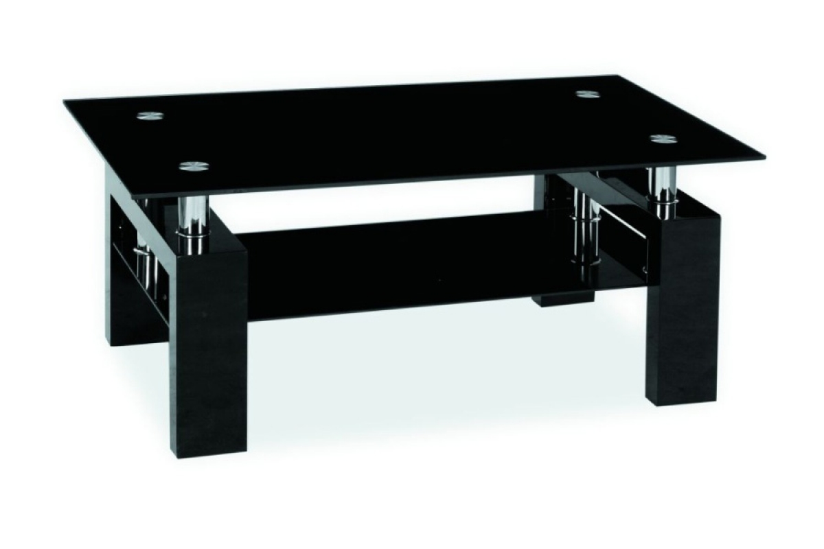 Nabytok-Bogart Konferenčný stolík lisa ii - černý lak výpredaj