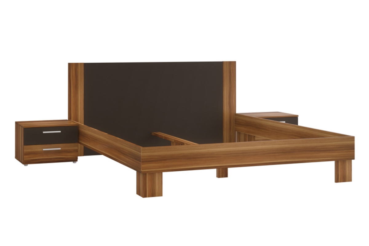 Nabytok-Bogart Posteľ hlnl161st helen + 2 nočné stolíky