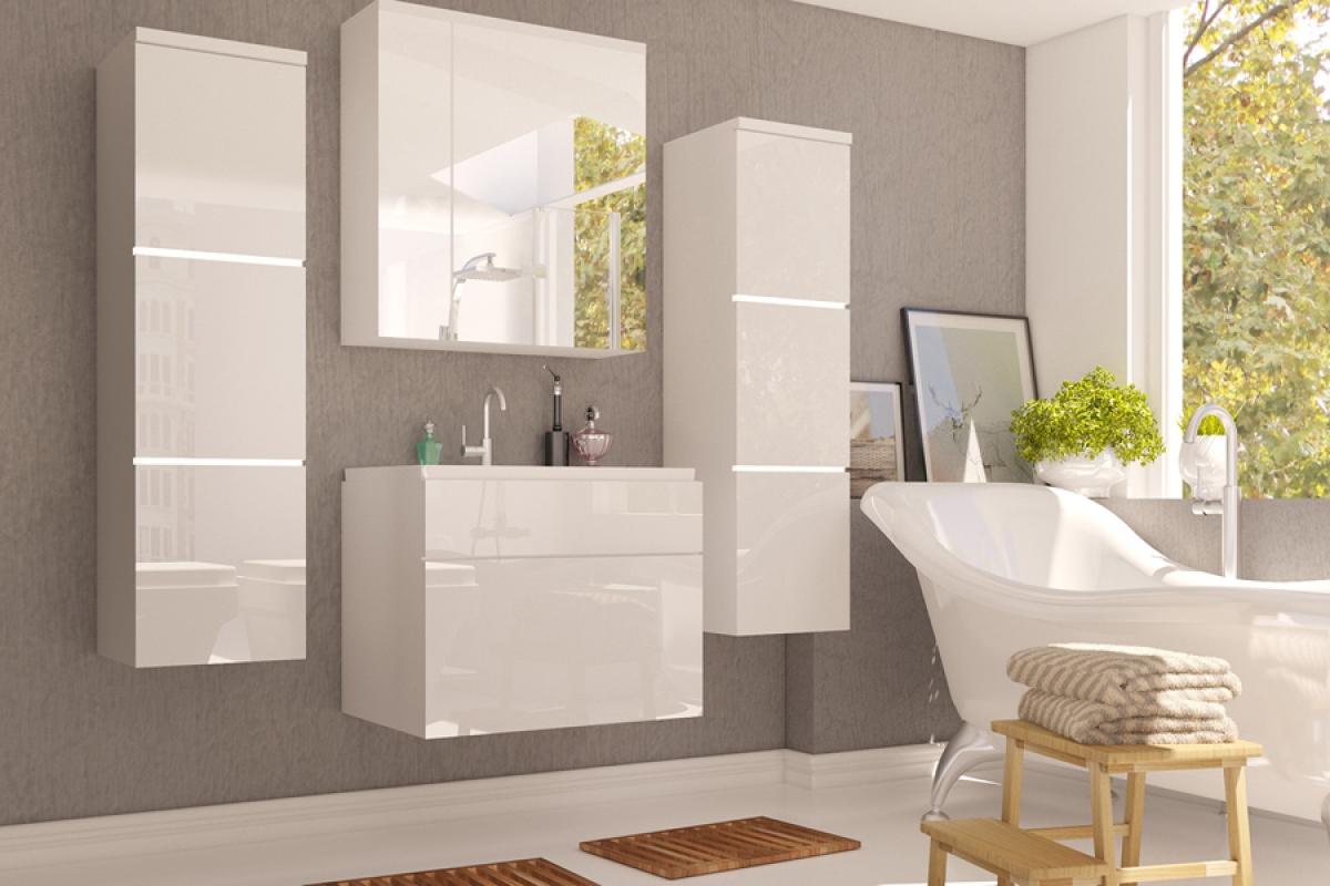 Nabytok-Bogart Kúpelňový nábytok roko - mdf biely lesk