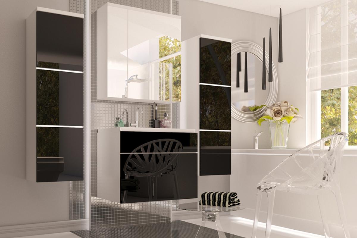 Nabytok-Bogart Kúpelňový nábytok roko - mdf čierny lesk
