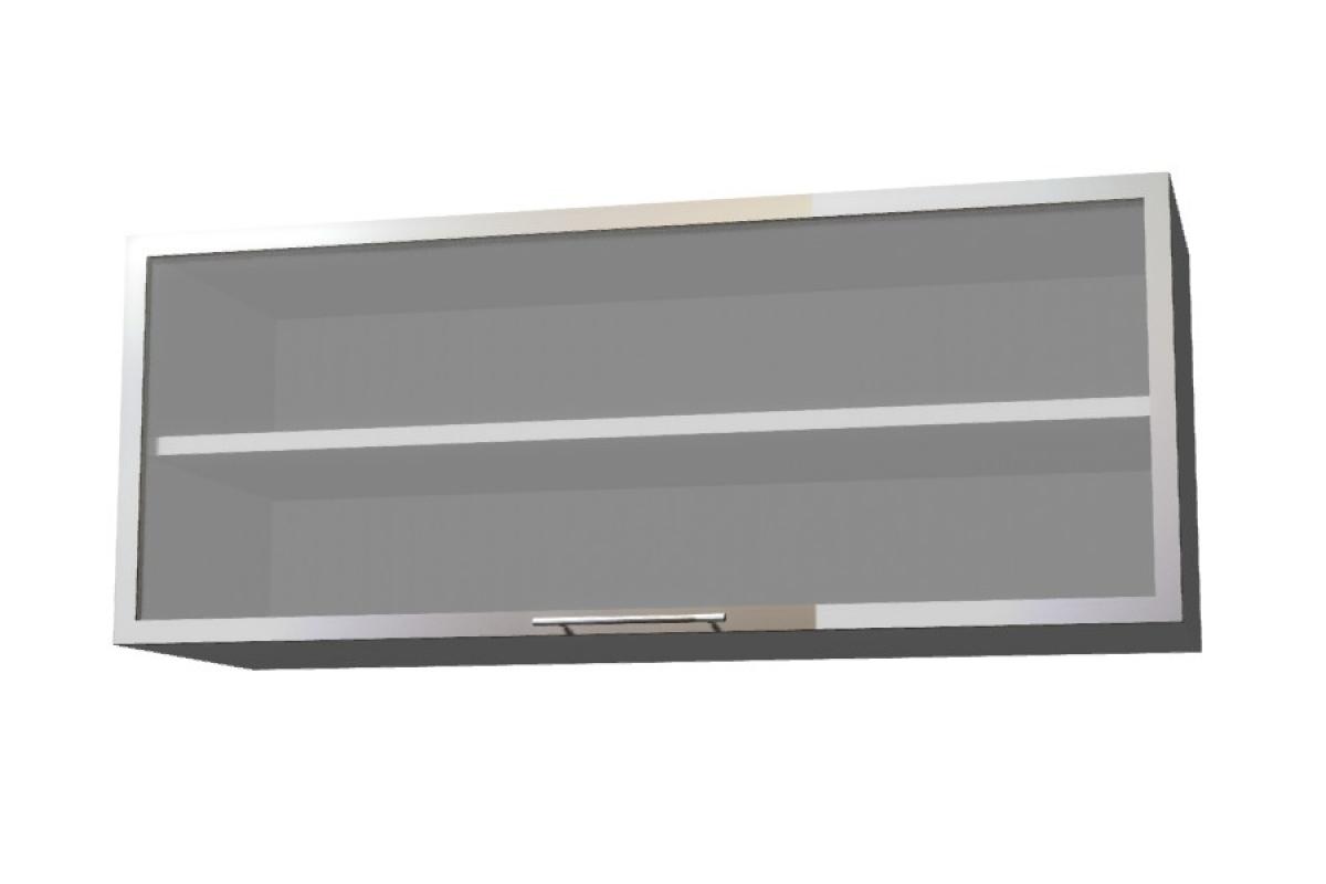 Nabytok-Bogart Amelia biela ws90 okgr alu rám - závesná digestorová skrinka