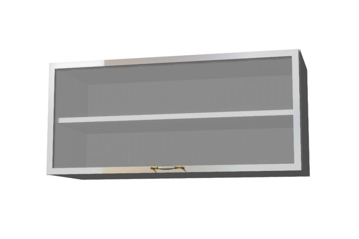 Nabytok-Bogart Amelia biela ws80 okgr alu rám - závesná digestorová skrinka