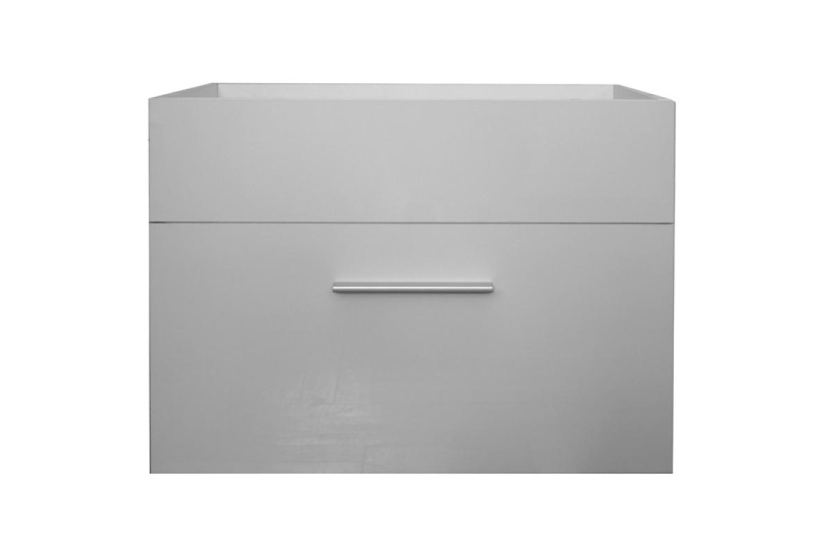 Nabytok-Bogart Skrinka pod umývadlo 60 cm oliv/loko lp2 biela + biely lesk- výpredaj