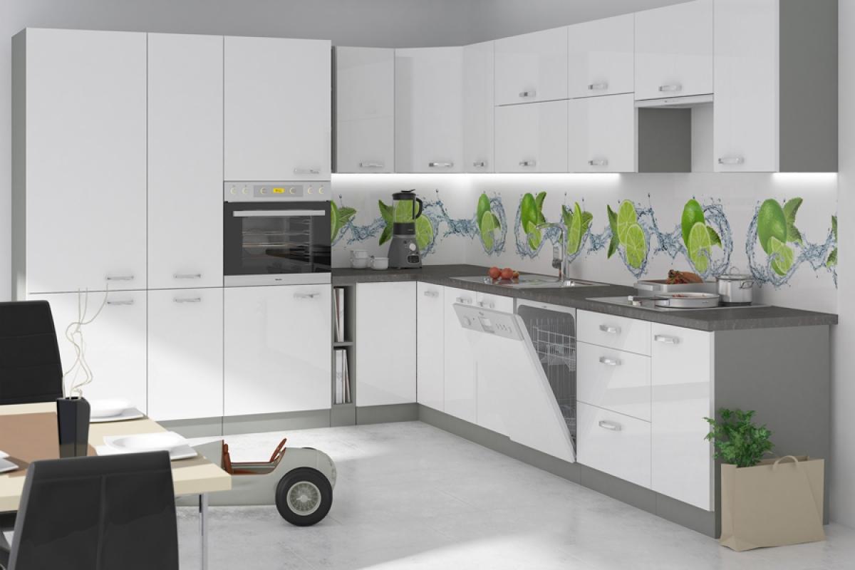 Nabytok-Bogart Kuchyňa bianka biely lesk - komplet l 265x330 - komplet nábytku kuchennych