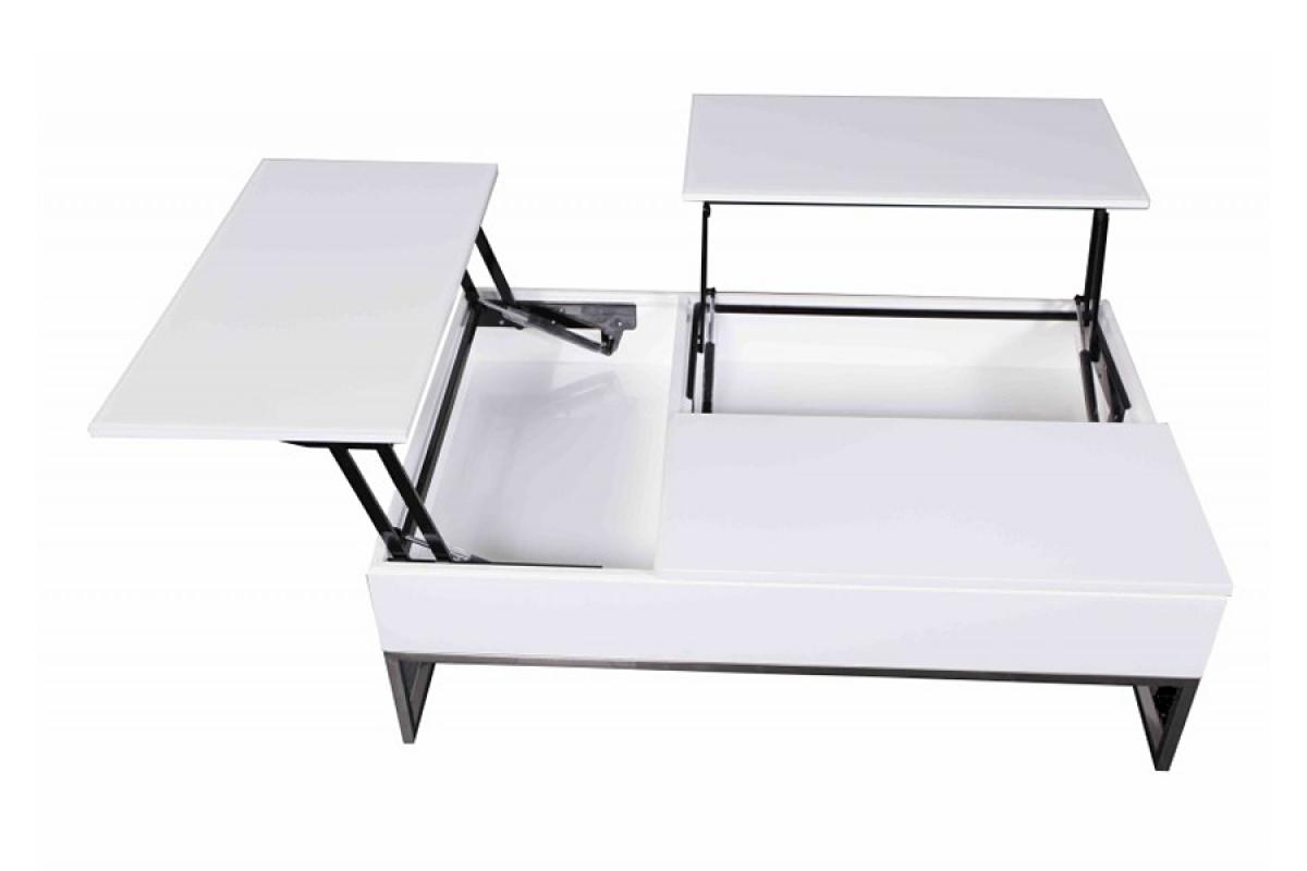 Nabytok-Bogart Moderný konferenčný stolík s úložným priestorom - biely