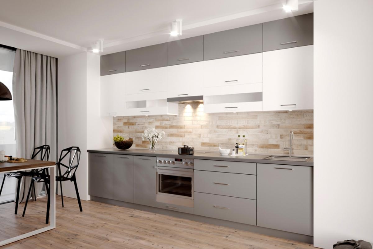 Nabytok-Bogart Kuchynská linka vella 3,4 m - komplet nábytku do kuchyne s digestorom
