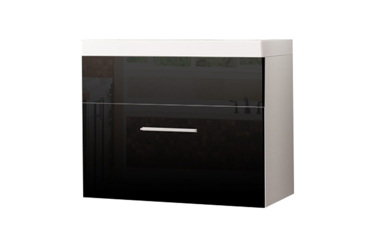 Nabytok-Bogart Skrinka pod umývadlo 60 cm oliv/loko lp2 biela/čierny lesk