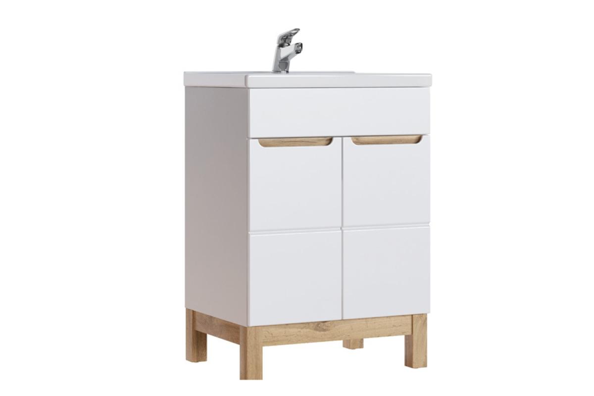 Nabytok-Bogart Skrinka pod umývadlo do kúpelne bali white 820 - 60 cm