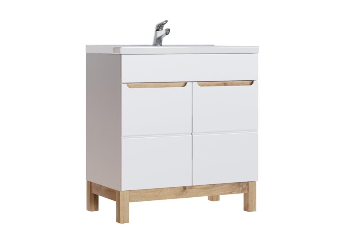 Nabytok-Bogart Skrinka pod umývadlo do kúpelne bali white 821 - 80 cm