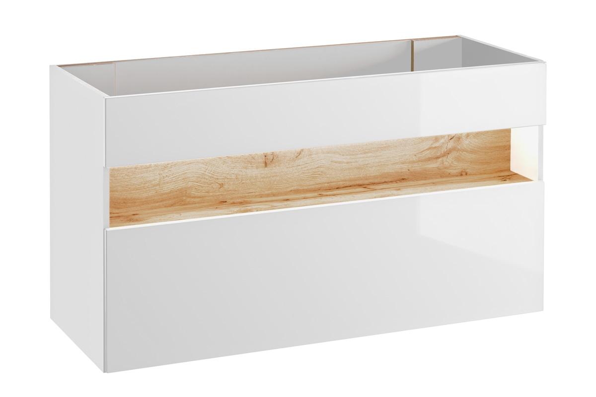 Nabytok-Bogart Skrinka pod umývadlo bahama white 854 - 120 cm
