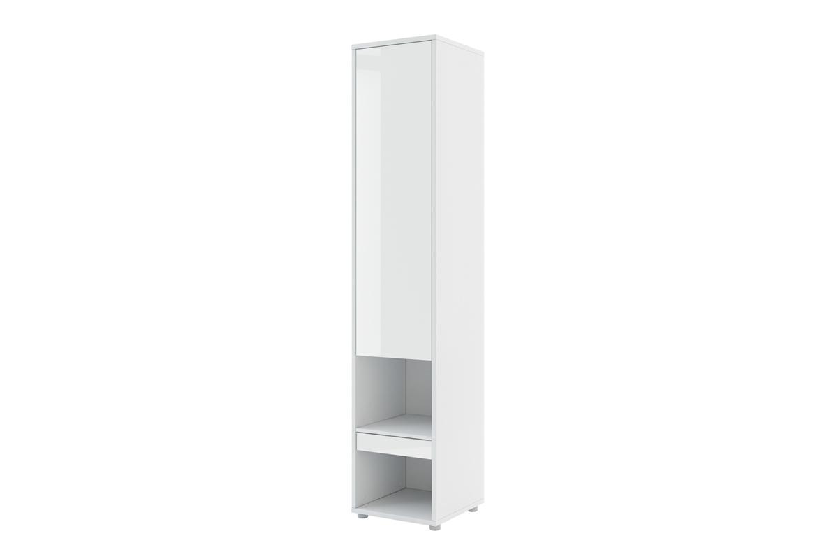 Nabytok-Bogart Regál s policami bed concept bc-07 biely lesk - lenart