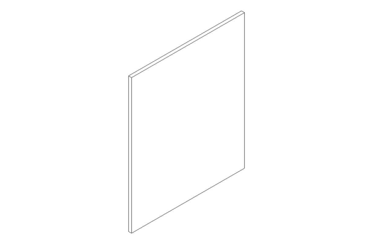 Nabytok-Bogart Moreno cocobolo 60pu - predná časť do umývačky - panel ukryty, biela
