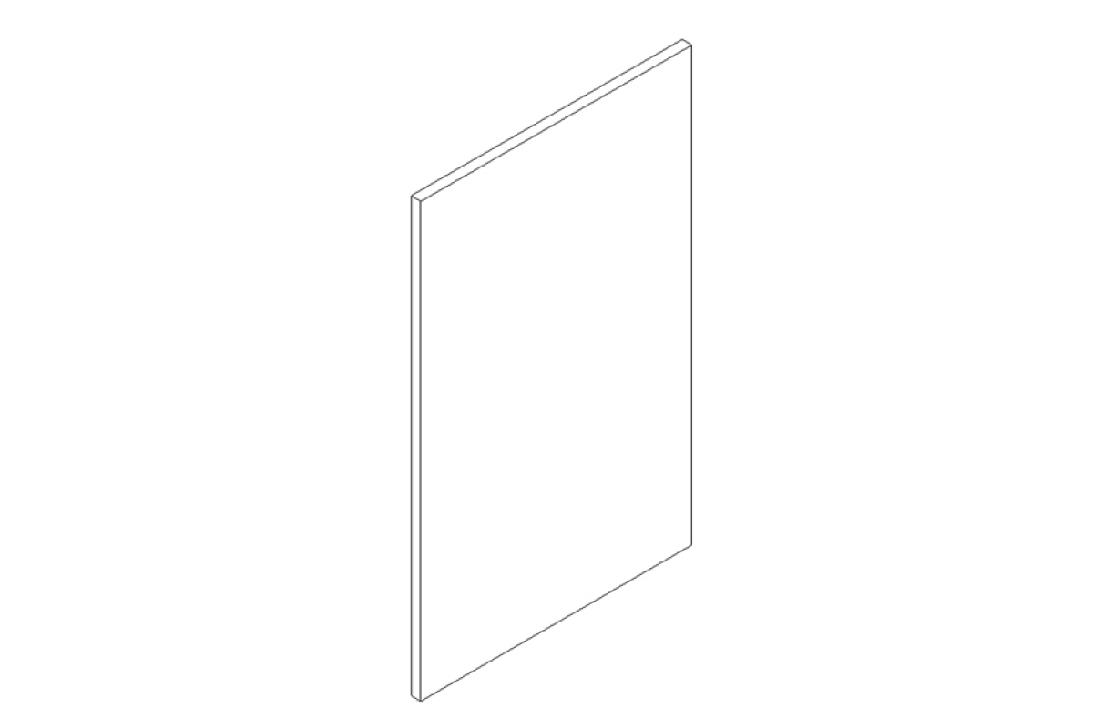 Nabytok-Bogart Moreno picard 45pu - predná časť do umývačky - panel ukryty, biela